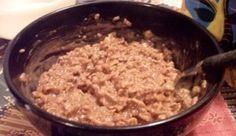 Chocolate Peanut Butter Oatmeal? Is it breakfast or dessert???