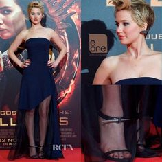 Jennifer Lawrence In Dior While Promoting For The Hunger Games