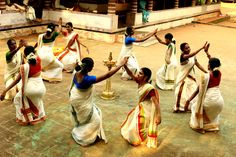 Thiruvathira Kali, Traditional Dance of Kerala Onam Wishes Images, Happy Onam Images, Onam Celebration, Festival Celebration, Happy Onam Wishes, Onam Greetings, Onam Festival, Kerala India, South India