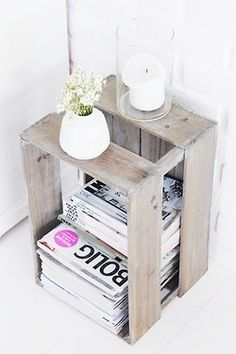 I want this as my night stand...add some type of top?