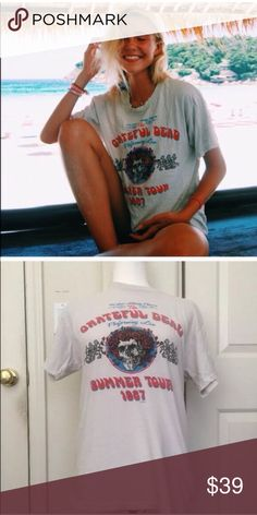 Brandy Melville Grateful Dead vintage style tee You know the tee! Sold out online! Love ❤️ this tee but doesn't look great on me. So selling, for cheaper than others are! Brandy Melville Tops Tees - Short Sleeve