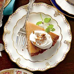 Add some toasted pecans to the top after to make it event better! Apple Butter Pie | MyRecipes.com