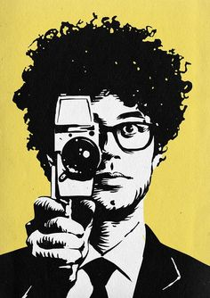 Artwork for Richard Ayoade's forthcoming book, Ayoade on Ayoade. By Paul Willoughby ( Richard Ayoade, Sexy Painting, It Crowd, British Humor, Nerd Love, Film Music Books, Geek Art, Pretty Pictures, Cute Guys