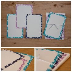 EN003-Hot Air Balloon Navy, pink and turquoise frames with hand-drawn hot air balloon pattern R150 for a set of 10 with ivory envelopes