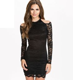 2015 Women New Sexy Lady Off Shoulder Lace Bodycon Dress Women Mini Pencil Dress