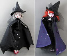 Witch Dress, Witch Outfit, Monster High Repaint, Monster High Dolls, Doll Makeup, Fairy Dolls, Halloween Outfits, Fashion Dolls, Cosplay Costumes