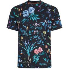 Sebaby Mens Floral Print Long Sleeve Button Shirts Leopard T-Shirts