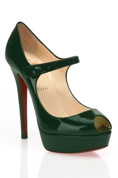 Christian Louboutin Bana Pumps In Dark Green - Beyond the Rack