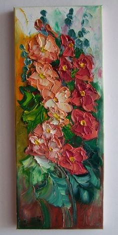 Mallows Malva Impression IMPASTO Original Oil Painting Europe Artist Textured  #ImpressionismImpasto