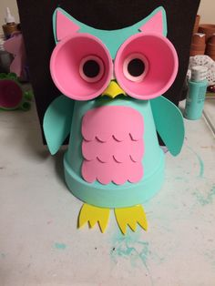Owl terra cotta pot by TerraCottaPotPeople on Etsy https://www.etsy.com/listing/253923822/owl-terra-cotta-pot