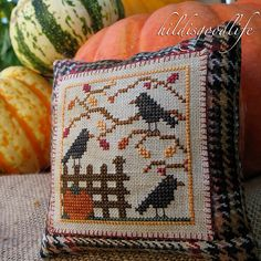 Love the plaid touch and the blanket stitching
