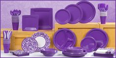 Purple Tableware - Purple Party Supplies - Party City. Best buy on small plates.