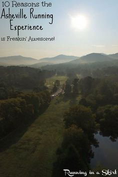 10 Reasons the Asheville Running Experience is Freakin' Awesome! A bucket list race experience including the Asheville Running Experience Half Marathon, 8K Chasing Trail run, Superhero 5K and Asheville Urban Odyssey! This race has epic scenery, music and an after party in Beer City USA - a dream for runners. Includes inspiration and motivation to make this race happen plus ideas for the Superhero 5K costumes.  Also includes photos of the course and links to registration! / Running in a Skirt