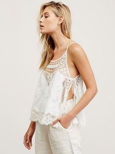 Ivory Staying Alive Lace Top at Free People Clothing Boutique