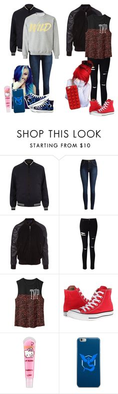 """At the park"" by chibiblue ❤ liked on Polyvore featuring River Island, Converse, PS Paul Smith, Miss Selfridge, H&M, Valor and Marc Jacobs"