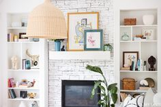 This billy bookcase built-in is Amazing! They built the billy bookcase around the fireplace and it turned out great! Learn more!