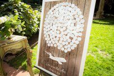 Custom wedding guest book by @Marshmallowink on Etsy