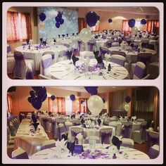 #cadburypurple #wedding #weddingdecoration #nicheevents #balloons #starlightbackdrop #toptable #nicheevents