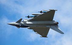 eurofighter ef typhoon s plane weapon sky HD wallpaper