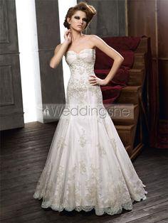 Terrific Trumpet/Mermaid Sweetheart Sleeveless Lace Embellishing Wedding Dresses