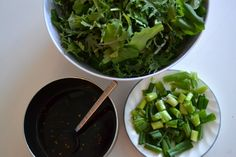 Green's Sweet and Spicy Kale Salad - The Fresh Find Homemade Peanut Sauce, Easy Peanut Sauce, Peanut Sauce Recipe, Fish Recipes, Asian Recipes, Snack Recipes, Filipino Recipes, Snacks, Green Vegetarian