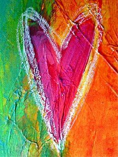Detail of artwork in progress - Renée Mak / Fuss It Up! I Love Heart, Happy Heart, Valentines Art, Be My Valentine, Heart Painting, Fire Heart, Maker, Color Of Life, Heart Shapes