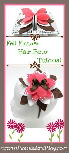 Mini Bowdabra Felt Flower DIY Tutorial