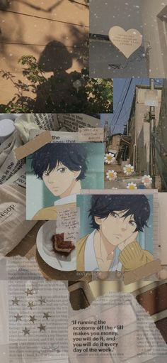 Anime Guys, Manga Anime, Anime Art, Futaba Y Kou, Ao Haru Ride Kou, Tanaka Kou, Blue Springs Ride, Aesthetic Iphone Wallpaper, Aesthetic Wallpapers