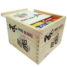 Drewniane klocki literki, cyferki, zwierzątka - 48 elementów