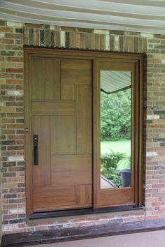 Exterior wooden doors - Les Portes Bourassa fabrique des portes entièrement sur mesure et selon vos goûts. www.PortesBourassa.com #Woodendoors