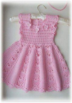 You can knit this beautiful dress for your baby.You just have to check the picture.
