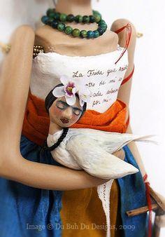 Miniature Frida Dove~Image © Christine Alvarado, 2009