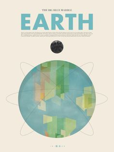 Beyond Earth, Minimalist Posters of the Planets by Stephen Di Donato.
