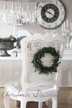 leaf wreath on chair backs
