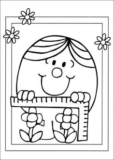 coloring page Mr Men and Litltle Miss Kids-n-Fun