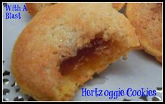 With A Blast: Hertzoggie Cookies - Traditional South African cookies - Jam & Coconut Meringue Tartlets ~ Karibu Restaurant ~ South African Dining ~ Cape Town Waterfront RSA ~