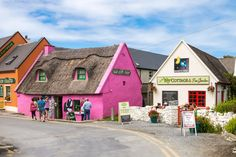 Colorful Doolin Village in Ireland