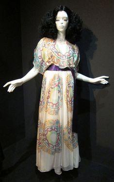 ZANDRA RHODES silk dress c.1977