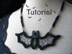 Tutorial for beadwoven necklace 'Blingy the by TrinketsBeadwork
