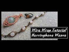 (12) How to herringbone Wire Wrap - YouTube