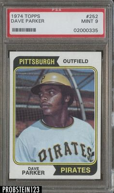 1974 Topps #252 Dave Parker Pittsburgh Pirates RC Rookie PSA 9 MINT #BaseballCards