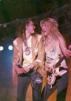 young Layne Staley and Jerry Cantrell
