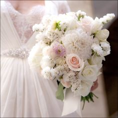 Rustic White Bridal Bouquet