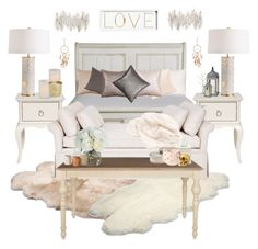 """Bedroom 4"" by dani47bvb ❤ liked on Polyvore featuring interior, interiors, interior design, home, home decor, interior decorating, Ethan Allen, Howard Elliott, UGG Australia and OKA"