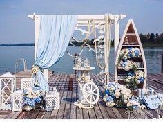 Celebrate a Wedding Party with 11 Nautical Themed Wedding Decorations Nautical Wedding Theme, Nautical Party, Nautical Backdrop, Nautical Style, Ocean Themes, Beach Themes, Decor Photobooth, Sailor Theme, Yacht Wedding