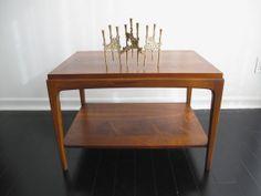 Vintage Lane Mid Century Side Table  Wood by SnapshotVintage, $280.00
