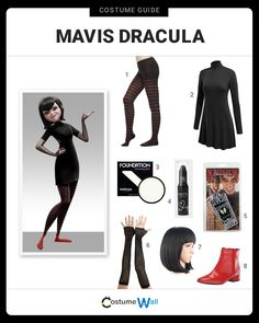 Get your fangs out today and dress as Mavis Dracula as voiced by Selena Gomez in the Hotel Transylvania movie series. Disney Inspired Outfits, Themed Outfits, Disney Outfits, Casual Cosplay, Cosplay Outfits, Cosplay Costumes, Velma Costume, Coraline Costume, Sac Halloween