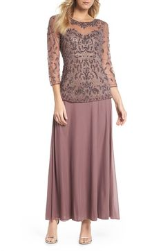 online shopping for Pisarro Nights Beaded Mesh Mock Two-Piece Gown (Regular & Petite) from top store. See new offer for Pisarro Nights Beaded Mesh Mock Two-Piece Gown (Regular & Petite) Mob Dresses, Fall Dresses, Cute Dresses, Fashion Dresses, Bridesmaid Dresses, Bride Dresses, Party Dresses, Summer Dresses, Petite Outfits