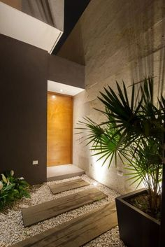 Casa Ming by LGZ Taller de arquitectura in main architecture Category Entrance Design, House Entrance, Door Entry, Design Exterior, Interior And Exterior, Room Interior, Wooden Front Doors, Oak Doors, Interior Architecture