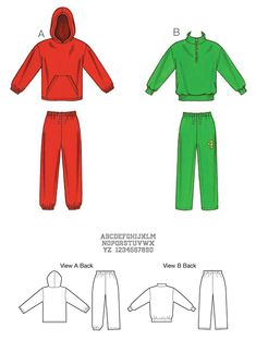 KwikSew  kid's sweat shirt pattern 3773